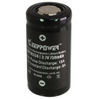 KeepPower Batteria al Litio IMR 18350 750mAh Polo Piatto